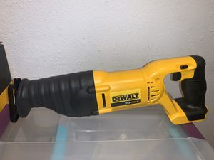 DEWALT 20v RECIPROCATING SAW ( TOOL ONLY) NO BATTERY NO CHARGER for Sale in Dallas, TX