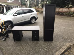 Desk and armoire set - for Sale in Lacey, WA