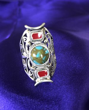 Size 8 Hand made Ring with Pretty Turquoise Stones for Sale in Everett, WA