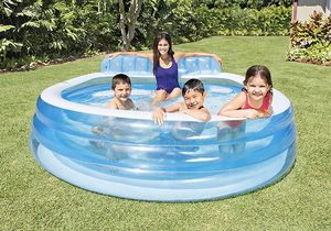 """Intex 3.8 out Intex Swim Center Inflatable Family Lounge Pool, 90"""" X 86"""" X 31"""", for Ages 3+ for Sale in Secaucus, NJ"""