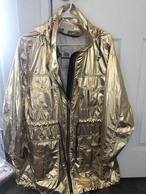 Michael Kors Gold Rain Jacket (L) for Sale in Las Vegas, NV