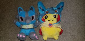 Pokemon Lucario Pikachu Plushies for Sale in Sterling, VA