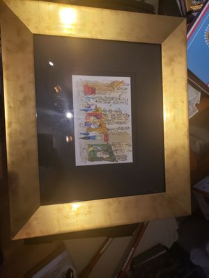 Framed drawing of French st for Sale in Greenwood Village, CO