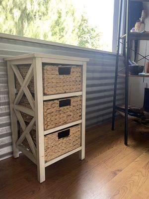 Free wood/wicker storage cabinet for Sale in Haleiwa, HI