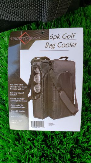 Caddy Daddy 6pk Golf Bag Cooler w/reusable ice for Sale in Riverside, CA
