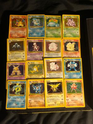 Pokemon Cards Base Set Holo Foil Card Holographic EX GX Charizard Mewtwo Pikachu TCG Vintage Japanese for Sale in Placentia, CA