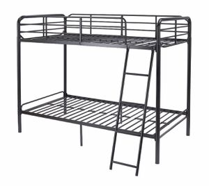 NEW Black Metal Twin Over Twin Bunk Bed for Sale in Las Vegas, NV