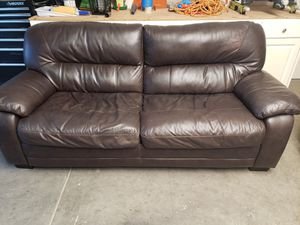 Leather Couch, love seat, and chair for Sale in Oakdale, CA