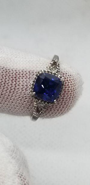 Natural saphire! Diamond accents! for Sale in Des Plaines, IL