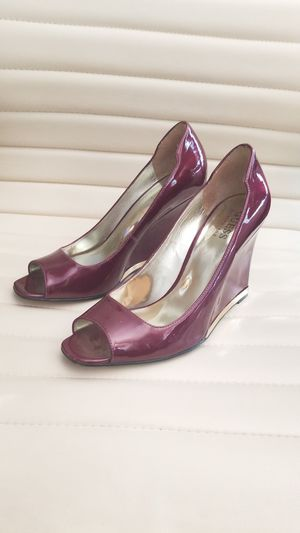 Guess by Marciano Eggplant-Colored Wedges Size 7 for Sale in Las Vegas, NV