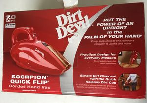 Dirt devil scorpion quick flip corded hand vac Brand New for Sale in San Diego, CA