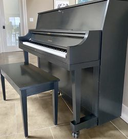 Yamaha P22 Black Oak Upright Piano for Sale in Bellevue,  WA