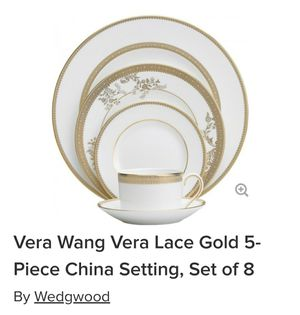Vera Wang Vera Lace Gold 5 piece, Set of 8 for Sale in Angier, NC
