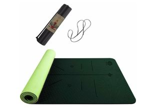 Topmat Yoga Mat,Eco Friendly TPE Non Slip Textured Surfaces Exercise & Workout Mat with Alignment (183cm x 61cm) for Sale in Rancho Cucamonga, CA