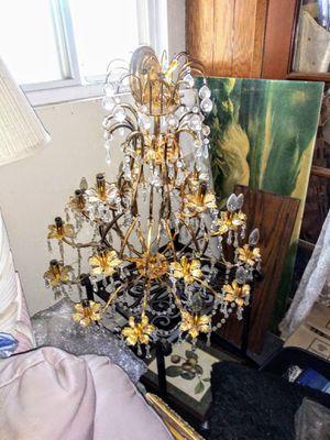 Beautiful 22 light Australian chrystal chandelier for Sale in Moreno Valley, CA