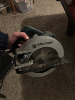 Black and decker circular saw 7 1/4 inch diameter for Sale in Fresno, CA