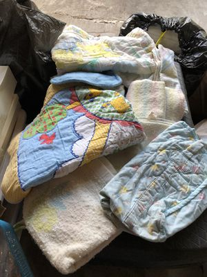 Baby blankets and diaper bag most of them had made for Sale in Lakeside, AZ