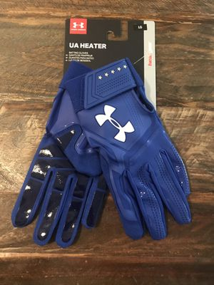 New! Under Armour Heater Baseball Blue Batting Gloves Large for Sale in Montclair, CA