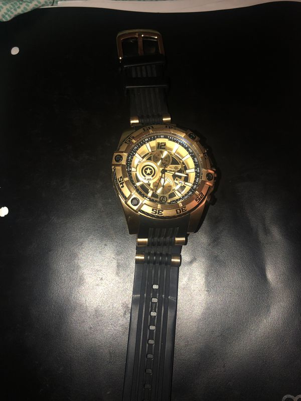 Invicta gold men's watch marvel limited edition 26781
