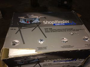 10 inch table saw ShopMaster delta for Sale in Cleveland, OH