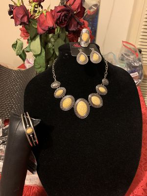 New jewelry set 4pcs: necklace, bracelet, earrings and ring for Sale in Westminster, CA