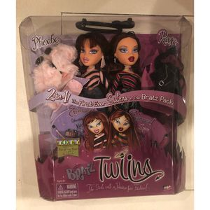 Bratz Twiins Phoebe & Roxxi 2-in-1! The First Ever Sisters In The Bratz Pack for Sale in Lakewood, CA