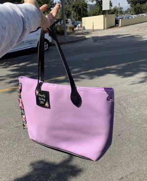 """Bag tote purse SIMPLY SPRING SUMMER OASIS VIOLET TOTE LARGE BEACH BAG NEW WITH TAGS 19"""" W x 13""""H x 5"""" D for Sale in Pasadena, CA"""