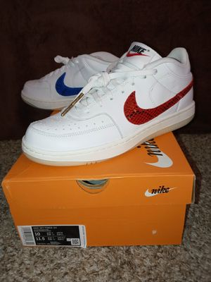 Nike air force 3/4 blue vs red /snakeskin swoosh in blue and red for Sale in Downey, CA