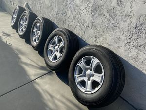 Five (5) Stock Jeep JL Wheels and Tires - 15k Miles for Sale in San Diego, CA