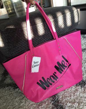 Juicy couture fuchsia tote bag new for Sale in Norridge, IL