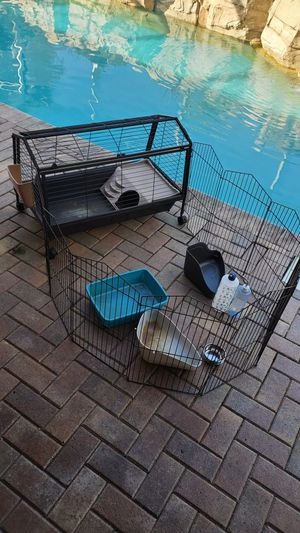 Pet cage with play pen and more for Sale in Fort Lauderdale, FL