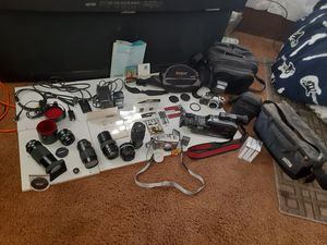 Amazing deal on all my camera equipment!!! for Sale in Santee, CA