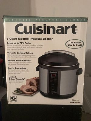 Cuisinart 6qt electric pressure cooker for Sale in Springfield, VA