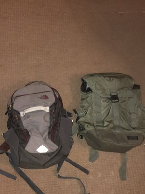 The North Face Backpack and Adidas Cargo Backpack for Sale in Seattle, WA