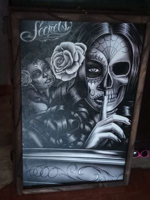 Day of the Dead Picture Frame for Sale in Santa Fe Springs, CA