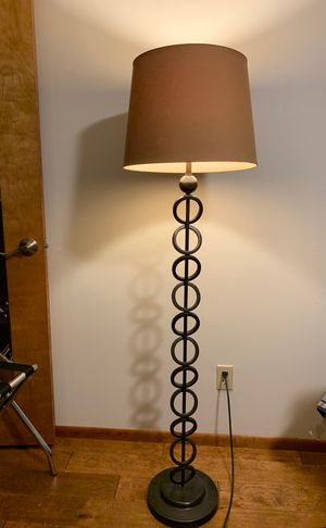 Tall Floor Lamp Bronze Metal for Sale in Payson, AZ