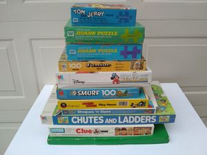 collection of children's board games and puzzles for Sale in Plano, TX
