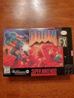 Doom SNES super Nintendo MINT condition. Complete for Sale in Schiller Park, IL