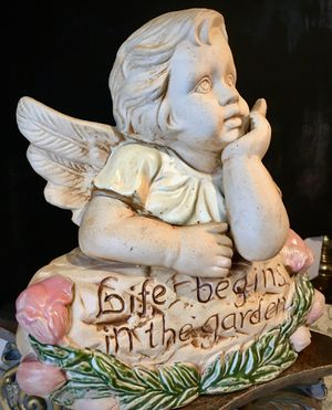 Beautiful large garden accent Angel H12xL11xD6 inch for Sale in Chandler, AZ