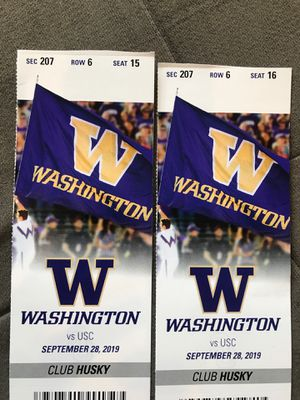 Washington Husky tickets vs USC - Club Husky for Sale in Seattle, WA