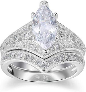 2 Carat Marquise Women's Bridal Set for Sale in Tyngsborough, MA