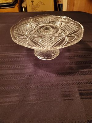 Glass cake plate for Sale in Oak Ridge, TN