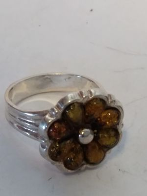 Amber Sterling silver ring size 8 for Sale in Willow Street, PA