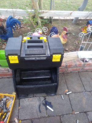Tool Box and tools drill lights sander and hitch ball for Sale in Fresno, CA