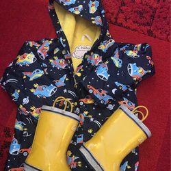 Raincoat Size 5 & rain Boots Size 12 for Sale in Seattle,  WA