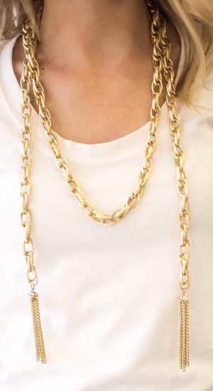 Gold Stone Multi Purpose Chain Necklace for Sale in Pittsburgh, PA