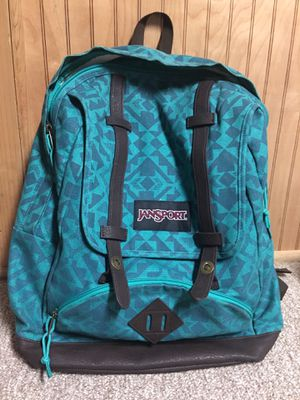 Teal Jansport backpack with laptop pocket for Sale in Woonsocket, RI