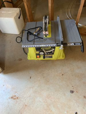 """Ryobi 10"""" 15A Table Saw Like New for Sale in Lawrenceville, GA"""