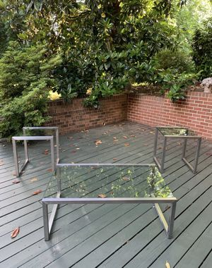 Modern coffee table and end tables for Sale in Rockville, MD