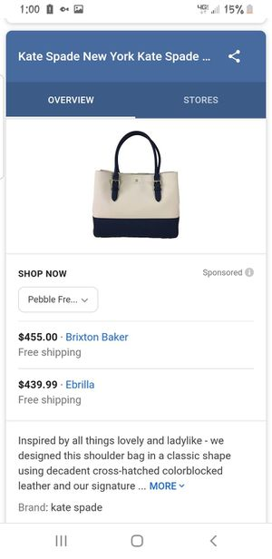 Kate Spade Tote Airel WKRU3421 for Sale in Happy Valley, OR